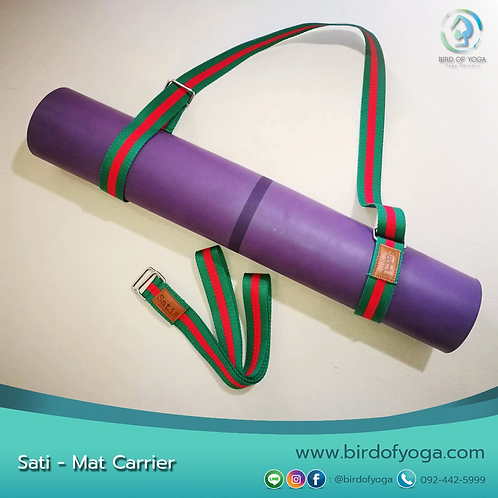 SATI YOGA - MAT CARRIER : GREEN/RED