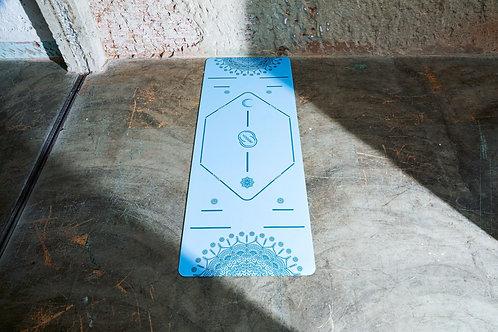 YOGISM 'MANDALA MOON & SUN' MAT 5.0MM : BLUE