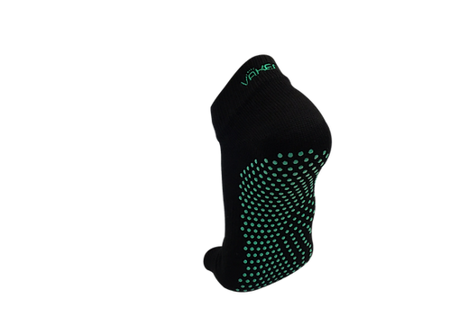 VAKEN : GRIP SOCKS - 1 PAIR/PACK - BLACK DOT GREEN