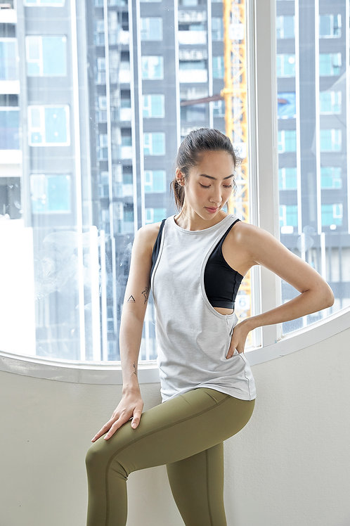 FITHEART - LAYER TANK TOP : LIGHT GRAY