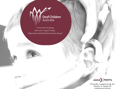 PROUDLY SUPPORTING DEAF CHILDREN AUSTRALIA