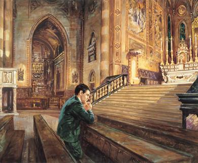 Giacomo Alberione nel Duomo di Alba