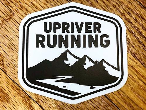 URR Black & White Logo Sticker