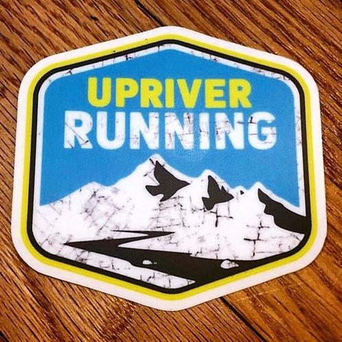URR Blue / Yellow Distressed Logo Sticker