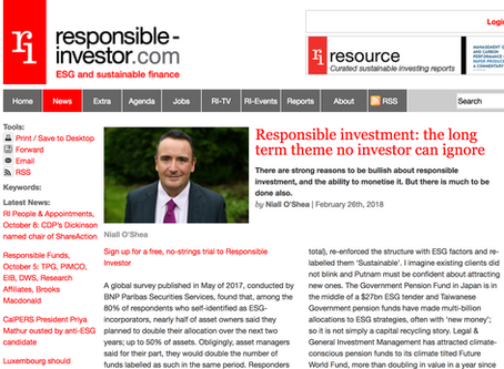Responsible Investment: the long-term trend that no investor can ignore