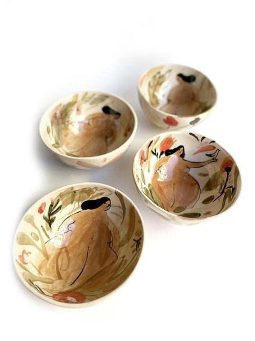 "Le petit bol ""Baigneuses fleuries"""