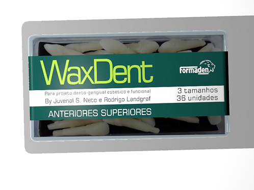 Dentes de cera Waxdent Anteriores Superiores