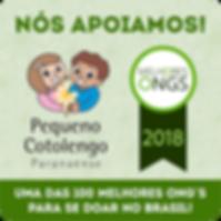 Selo Eu Apoio - Premio Melhores ONGs 201