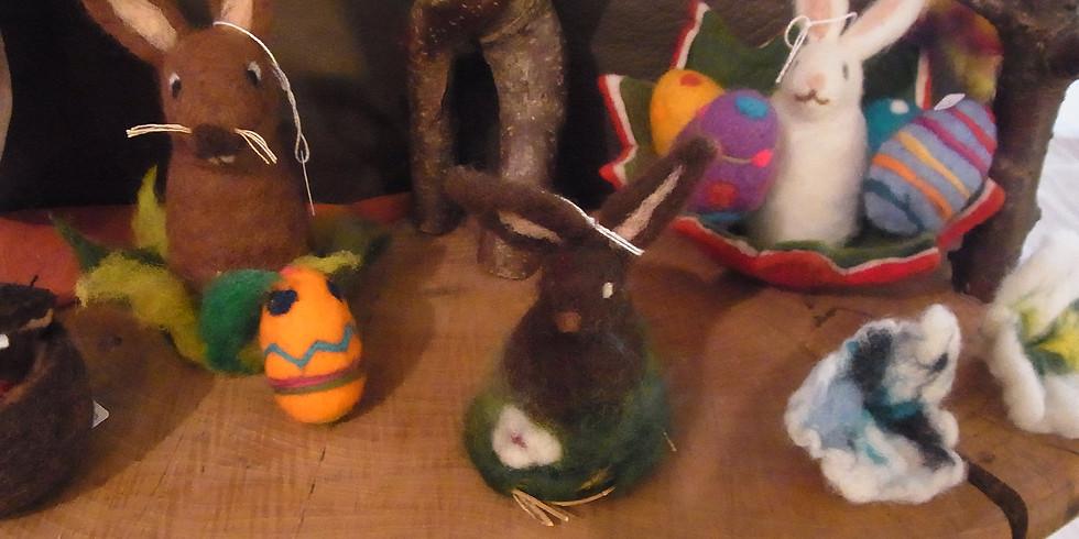 ABGESAGT !  FILZEN Osternest (nassgefilzt) + Hase/Eier (Trocken/Nadelfilzen)