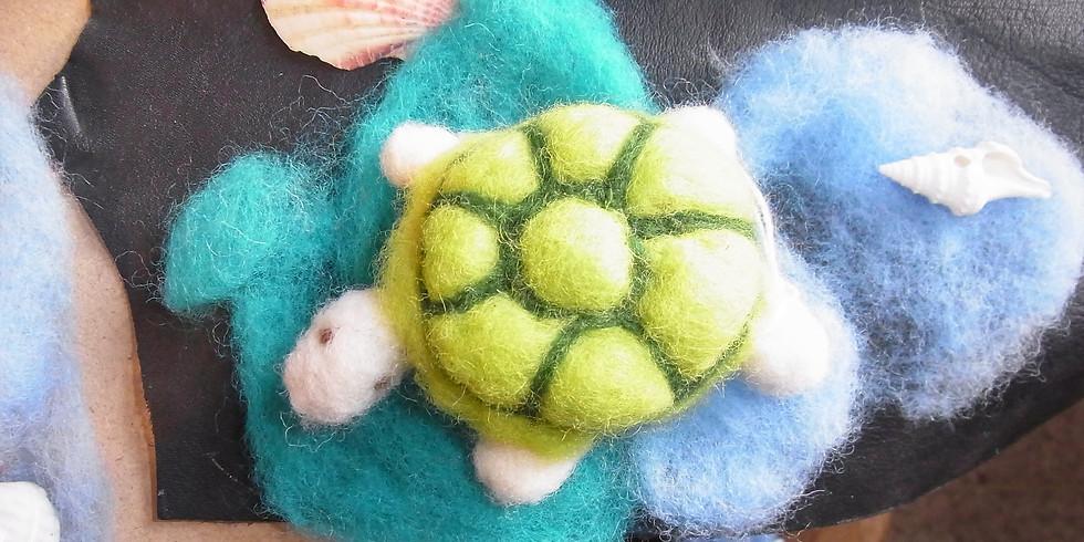"""Trockenfilzen Thema: """"Schildkröte mit Kind"""""""