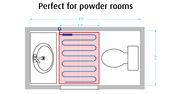 Warmup in Powder room diagram