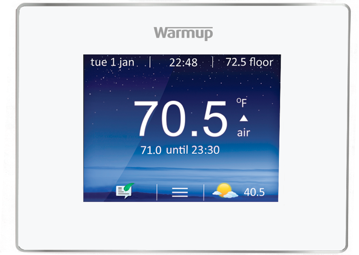 Warmup white Thermostate