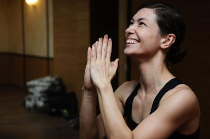 Съёмки тренировок по йоге