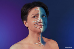3D грим/макияж. Проект с Ксенией Ходыкиной