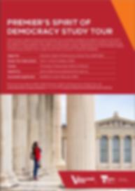 Premier's Spirit of Democracy Study Tour