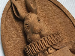 Wood Carving Plaque for a Chair