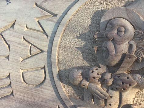 Wood Carving Mad Hatter Plaque