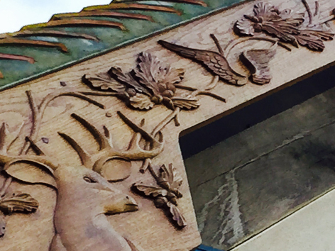 Wood Carving on a Gable end