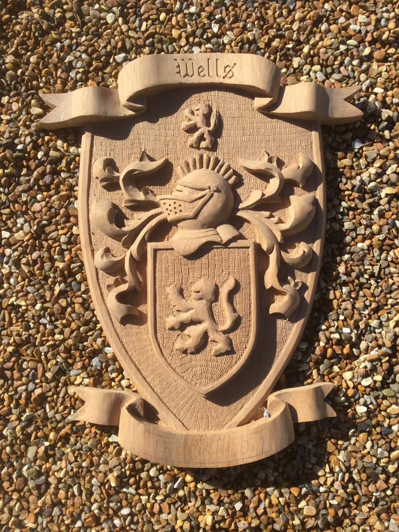 Wood Carved Crest
