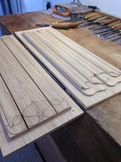 Linen Door Style Wood Carving