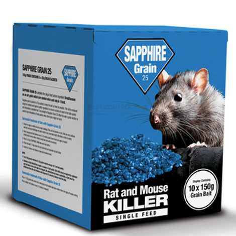 Sapphire Grain Rat & Mouse Killer - 150g Pouch