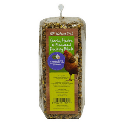 Natures Grub Chicken Treat Block - Garlic & Seaweed 280g