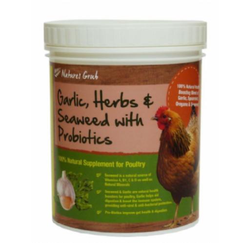 Natures Grub Garlic, Herbs & Seaweed with Probiotic 300g