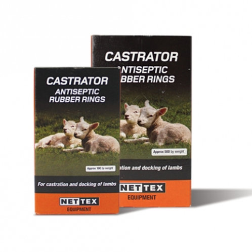 Net-Tex Castrator Antiseptic Rubber Rings 100