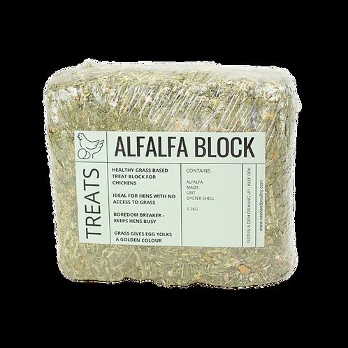 Alfalfa & Grain Chicken Treat Block