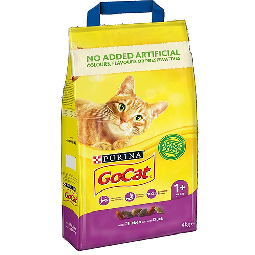Go-Cat Adult Dry Cat Food Chicken and Duck 4kg