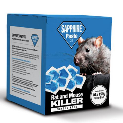 Sapphire Paste Rat & Mouse Killer - 150g Pouch