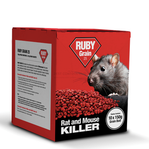 Ruby Block Rat & Mouse Killer - 300g Pouch