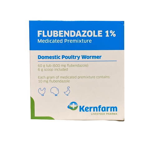 Flubenvet/Flubendazole Chicken Worming Powder 1% - 60g tub