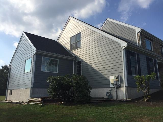 replacement of vinyl siding, roofing