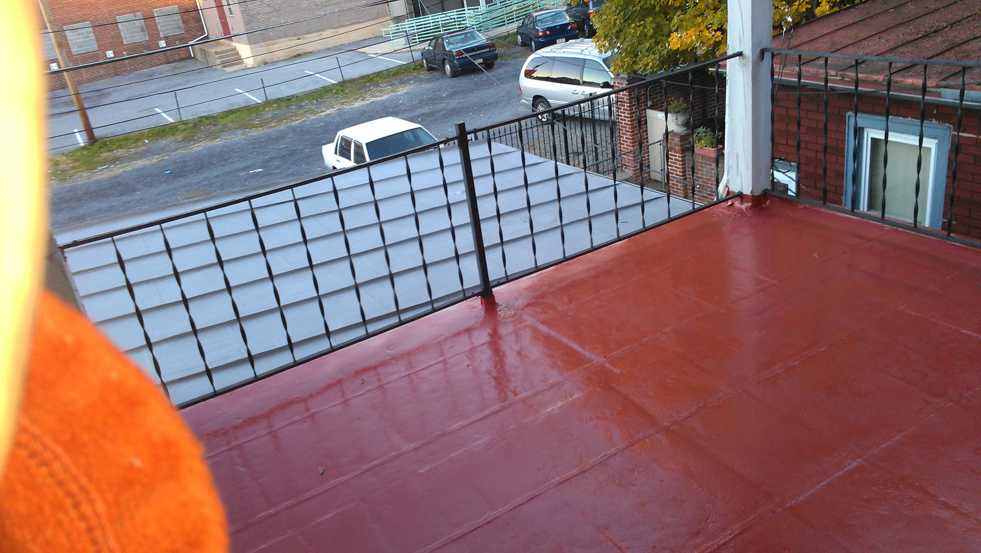 metal roof repair and painting