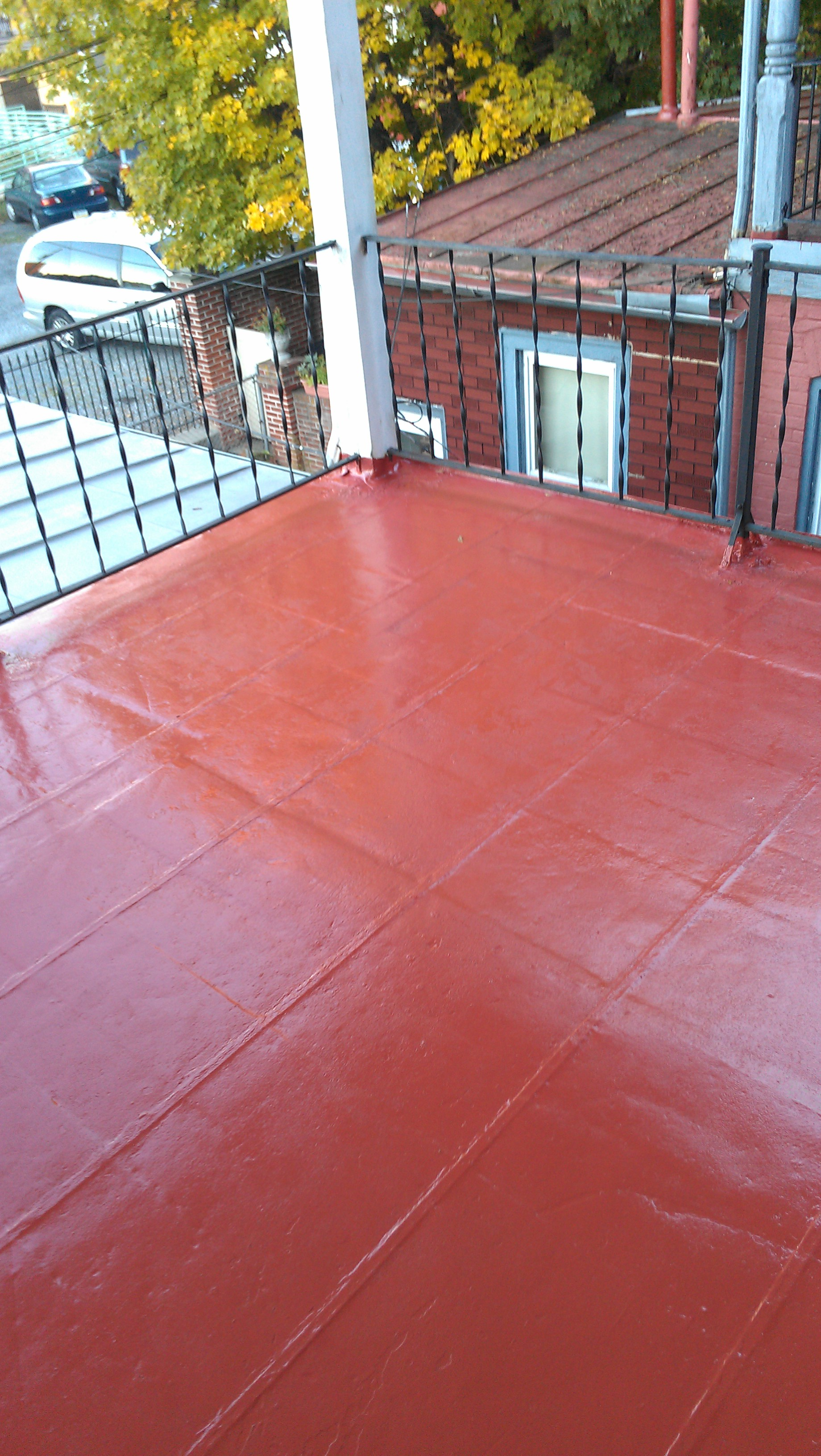 metal roofing repair and painting