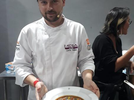 Chef. Carlos Aldea (Es) preparou Cogumelos Porcini brasileiros no MESA SP