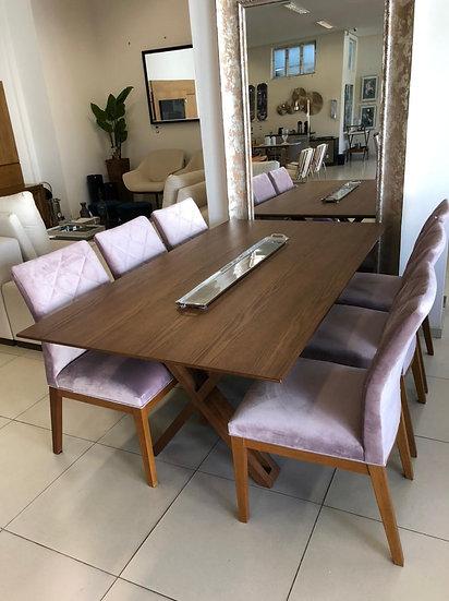 80-Mesa jantar 180+6 cad  10x R$ 499,00