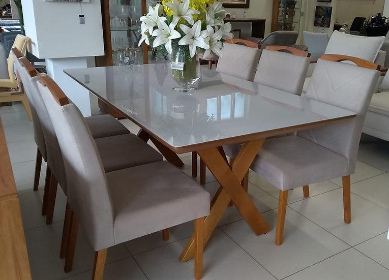 15-Mesa jantar 6 lugares- 10x R$ 359,00