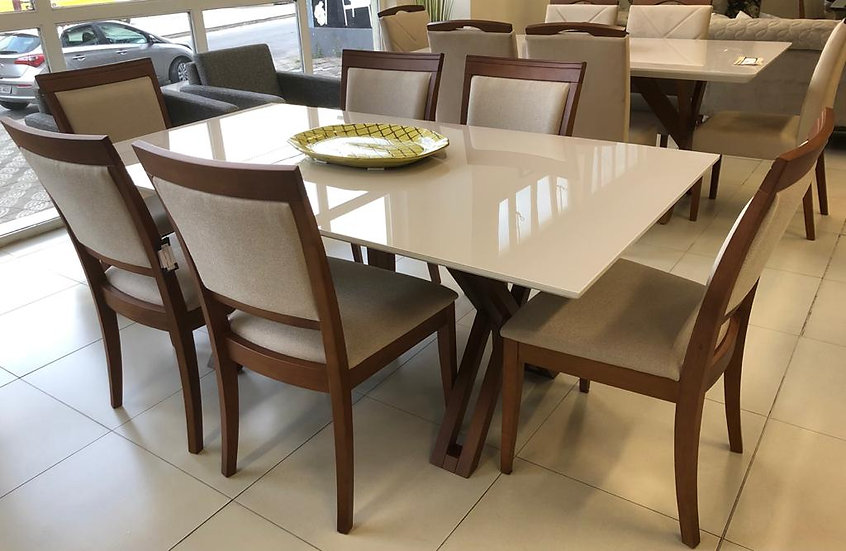 33-Mesa jantar 180 +6cad 10x R$ 529,00