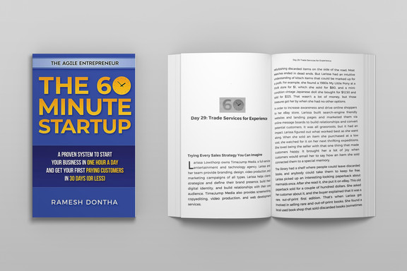 The 60-Minute Startup by Ramesh Dontha has dedicated a chapter of his book to Larissa's journey in order to assist other enterpreneurs.