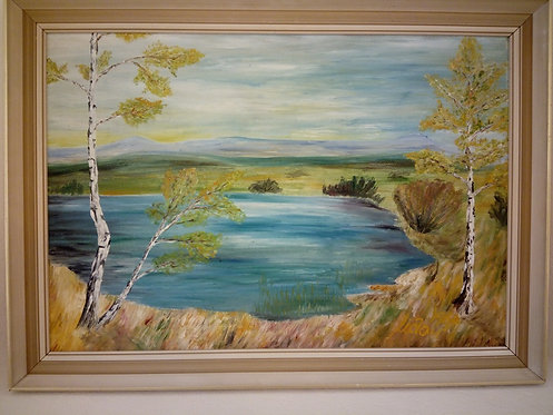 B67 - Landschaftsmalerei mit See
