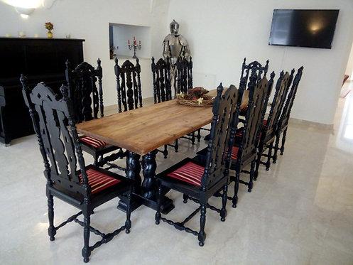 A5 - Rittertafel (10 Sessel mit Tisch)