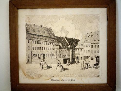 B93 - Glauchau, Markt 18 Jhdt.