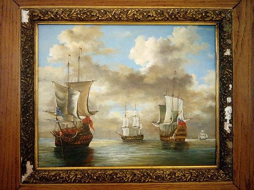 BK148 - Segelschiffe auf See