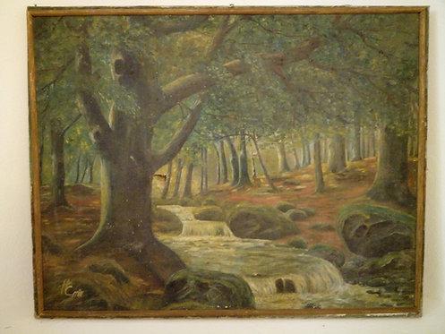 B89 - Landschaft mit Bach