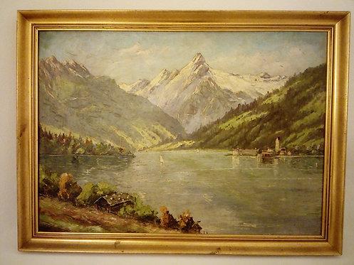 B7 - Landschaftsmalerei mit See