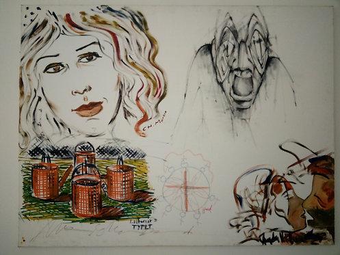 BK159 - Gemeinschaftsarbeit v.3 Künstlern