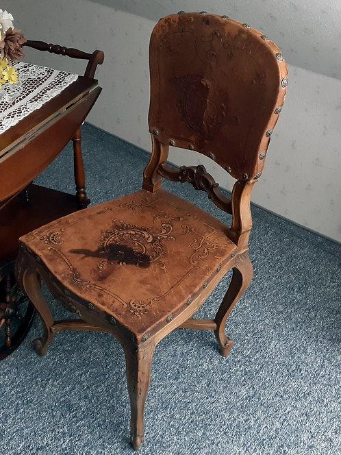 HO26 2 Sessel mit Lederbespannung