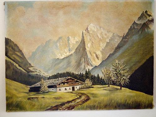 B68 - Landschaftsmalerei Bergbauernhof